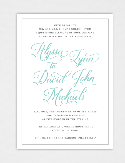 Calligraphy Wedding Invitation, Modern Wedding Invitation, Elegant Wedding Invitation, Modern Calligraphy Wedding Invitation