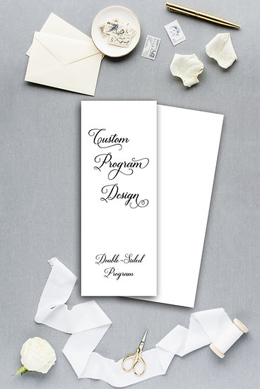 Custom Design Wedding Program Ceremony Program