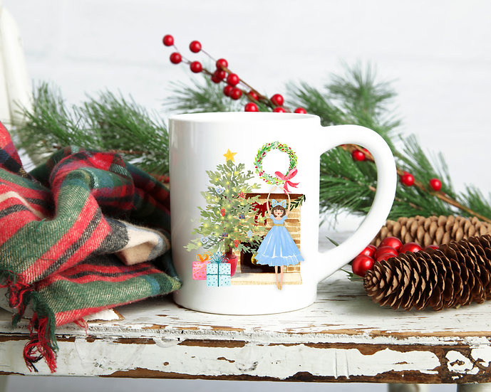 Dancing Doll Christmas Mug