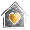 Illustration of a house with a heart at its center
