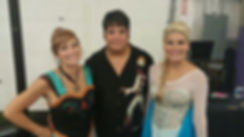 Met two princesses at my gig today at th