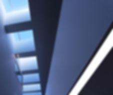 Elegant rooflight, skylight in office