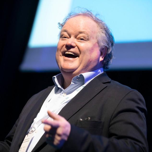Magnus Agerström, vd Cleantech Scandinavia, presenterar senaste statistiken om svensk cleantech