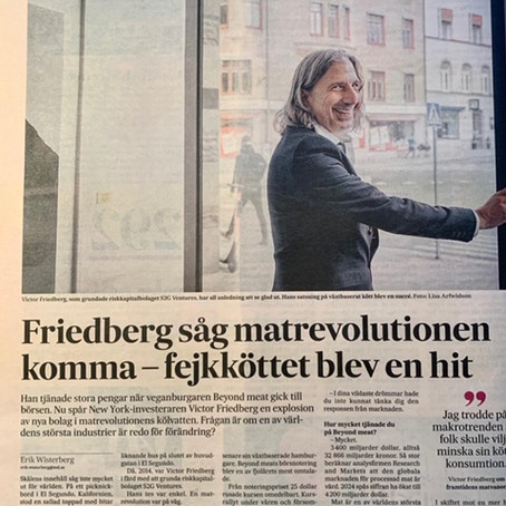 Interview in SvD with Victor Friedberg