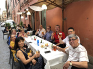 Welcome drinks in Rome