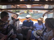 A private cruise down the Grand Canal in Venezia