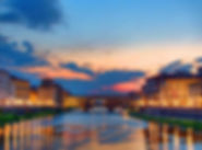 Ponte Vecchio at night on the Best of Italy small group tour