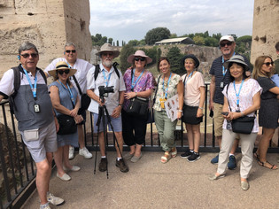 On our tour of the Colosseum, Rome