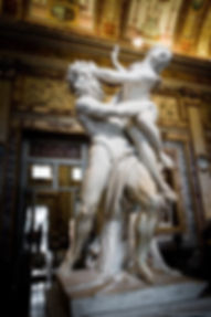 Bernini's Rape of Proserpina on day 4 of our escorted tour of Rome