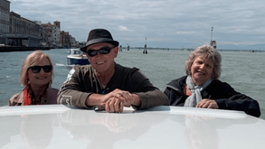 Arriving in Venice on a private water taxi