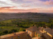 Tuscan view over rooftops on day 8 of our Best of Italy escorted tour