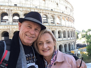 Loving it at the Coloseum, Rome