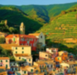 A town in northern Italy on our guided tour of the Veneto
