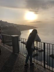 Catching the beautiful Sorrento sunset