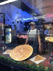 Huge pizza in Siena, Tuscany
