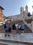 A guided tour of Rome must include the Spanish Steps