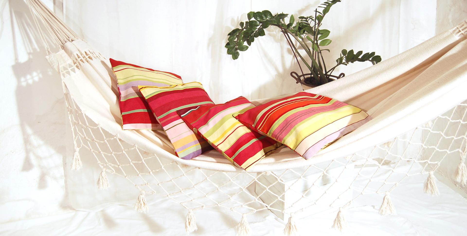 Coussins multicolores pour Hamac