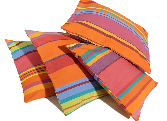 Housses de coussins en Toiles du Soleil rayés multicolores