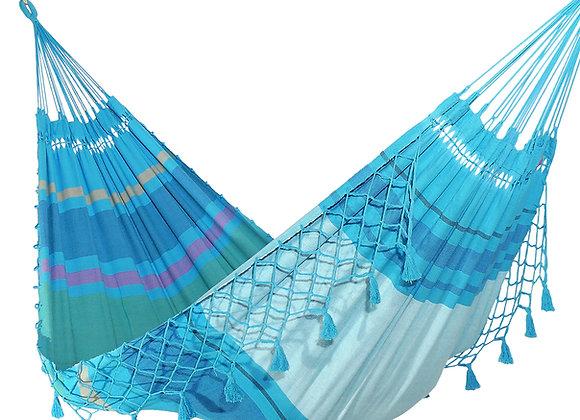 Hamac double design Ocean avec franges décoratives