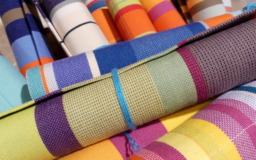 Tissu extra robuste multicolore pour chilienne et transat