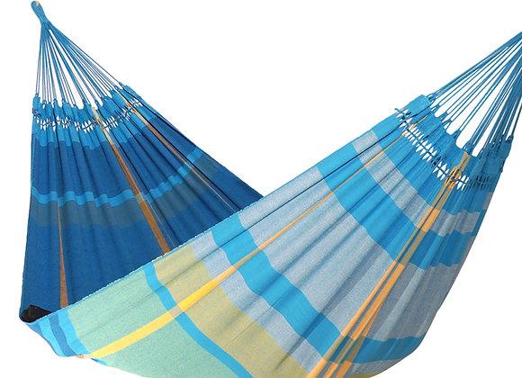 Hamac XL design Sea Breeze en bleu turquoise, tissé main