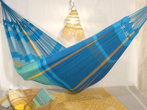 Grand Hamac bleu turquoise, déco et confort réuni