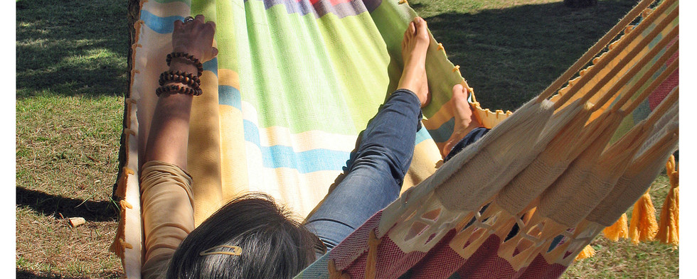 Hamac décoratif avec des franges