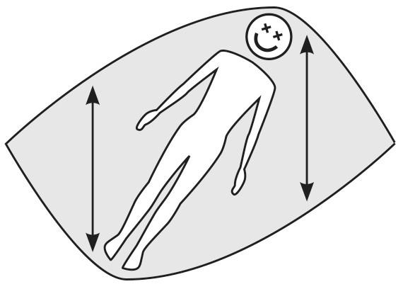 Position confortable dans la diagonale du hamac