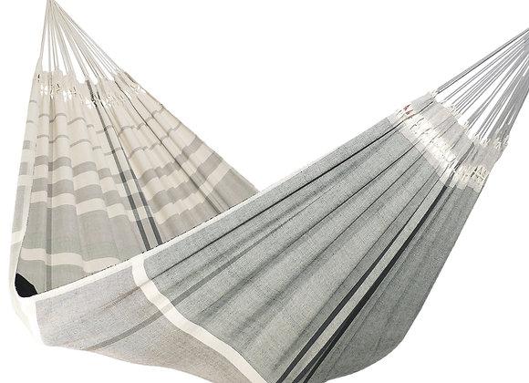 Hamac XL, design Serenity en nuances de gris, tissé main