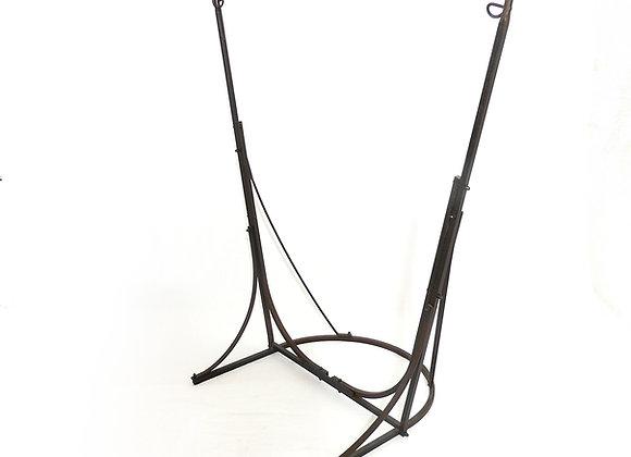 Support pour hamac fauteuil en fer forgé artisanal, démontable