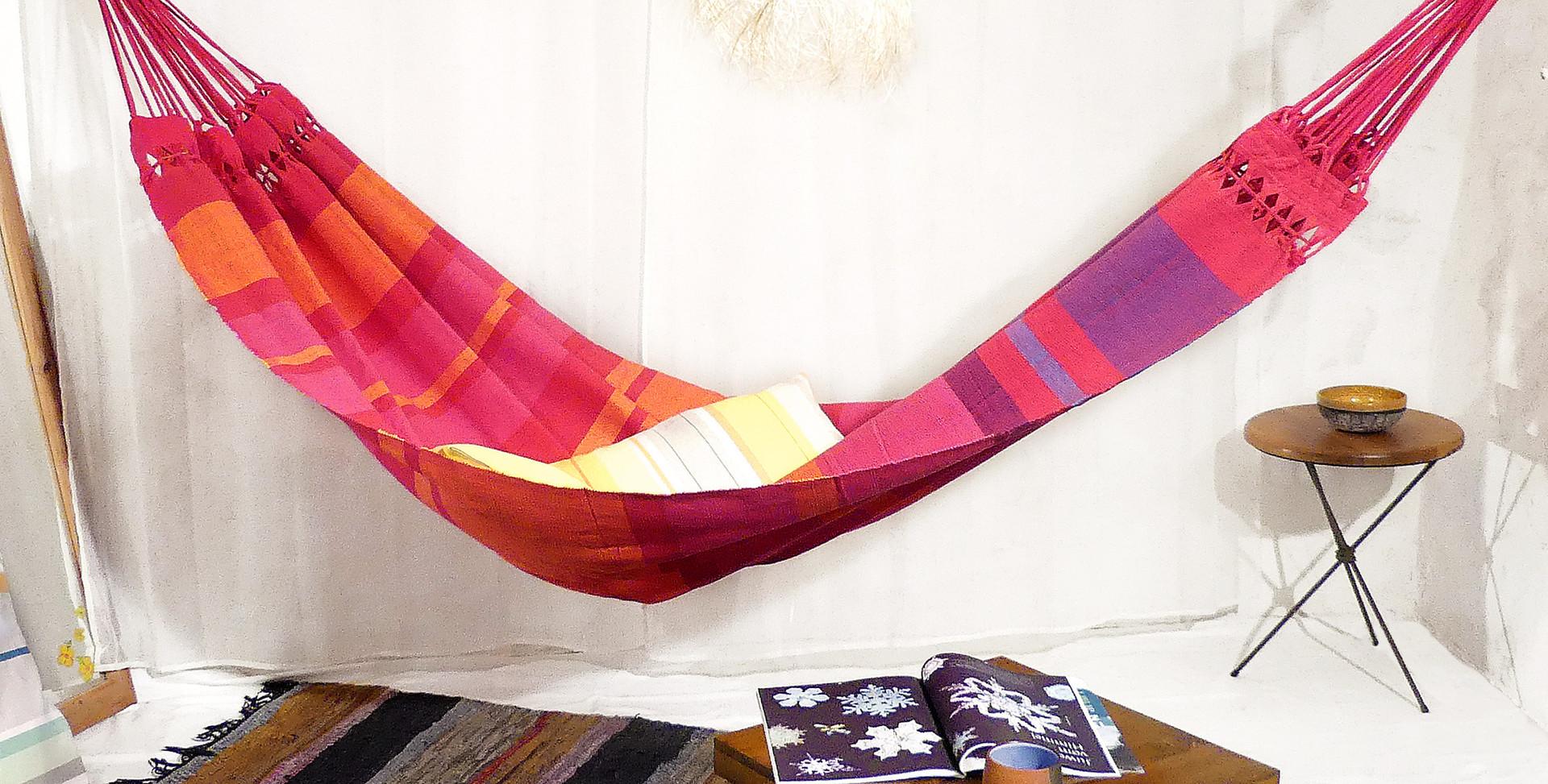 Hamac double design rouge