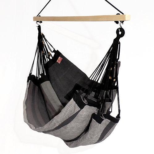 Hamac Fauteuil noir et gris anthracite avec kit de suspension