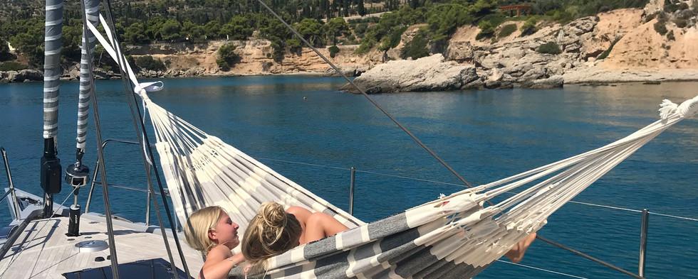Hamac double sur bateau