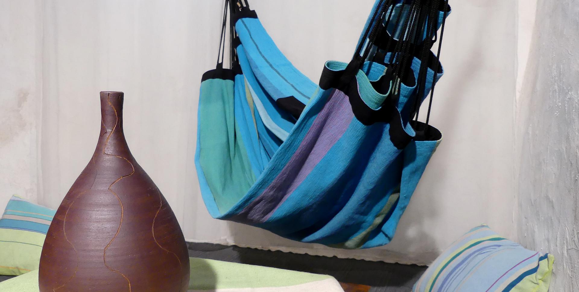 Déco intérieur avec hamac fauteuil