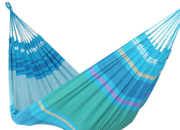 Hamac double design Ocean en coton tissé main