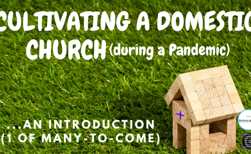 Cultivating a Domestic Church (during a Pandemic) ...an Introduction (1 of many-to-come)