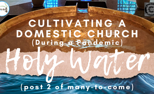 Cultivating a Domestic Church (during a Pandemic) ...Holy Water (2 of many-to-come)