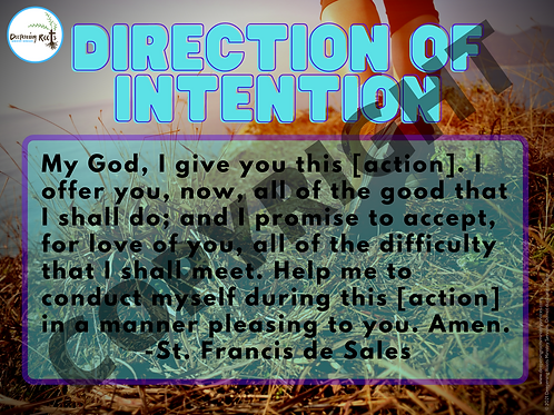 Direction of Intention (Poster)