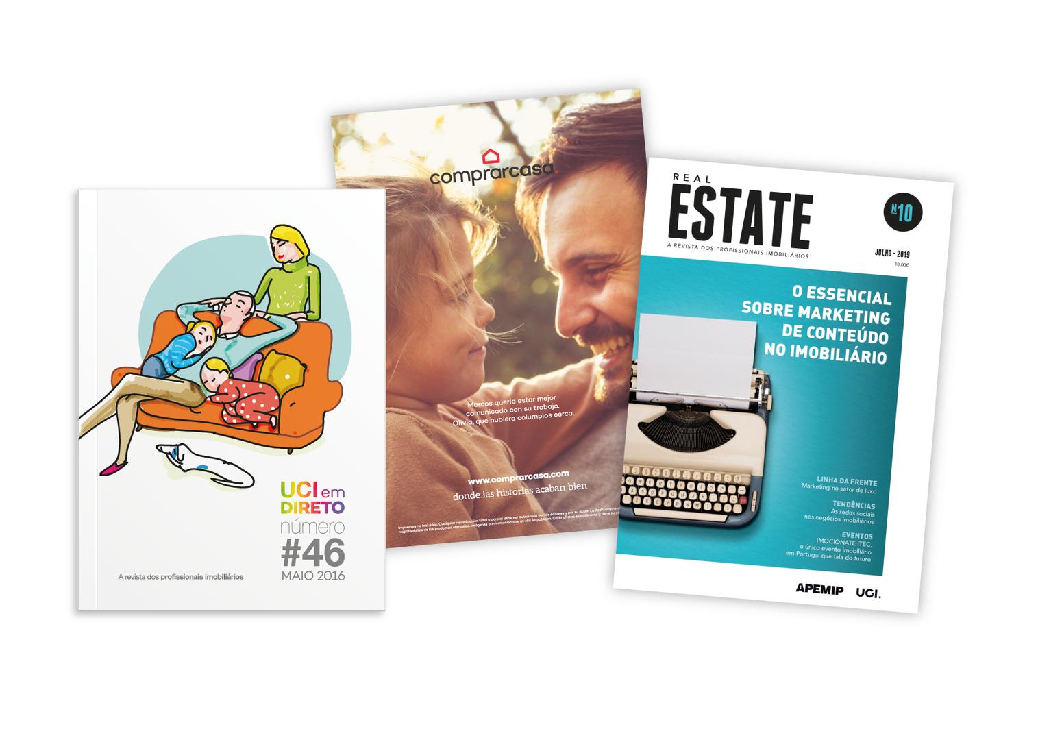 UCI em Direto, Revista Comprarcasa, Revista Real Estate