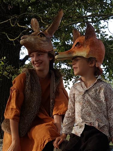 Coiffe de lievre et renard