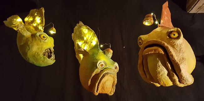 Tableau poissons lampe