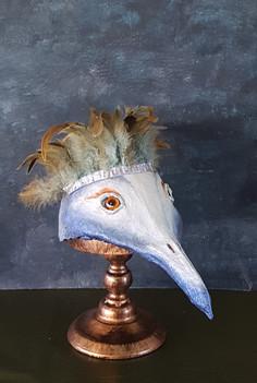 Oiseau des forets  Sculpture en paier maché Dim 23*17*34 cm Anne C Creation
