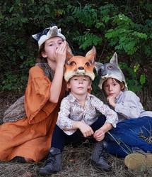 Coiffe Blaireau loup renard