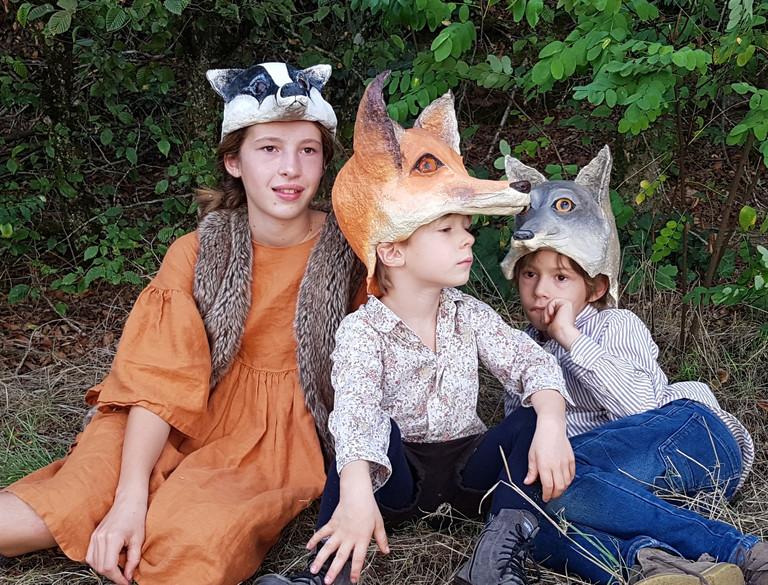 Coiffe blaireau renard loup