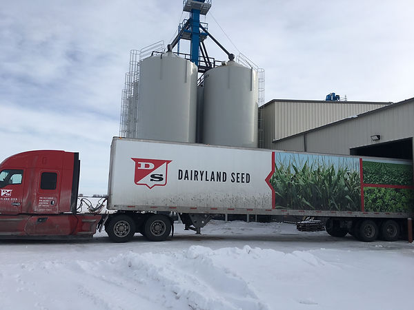 Loading Dairyland with our soybeans