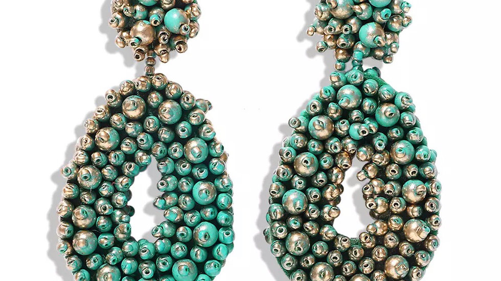 Beaded NV (Green and Gold)