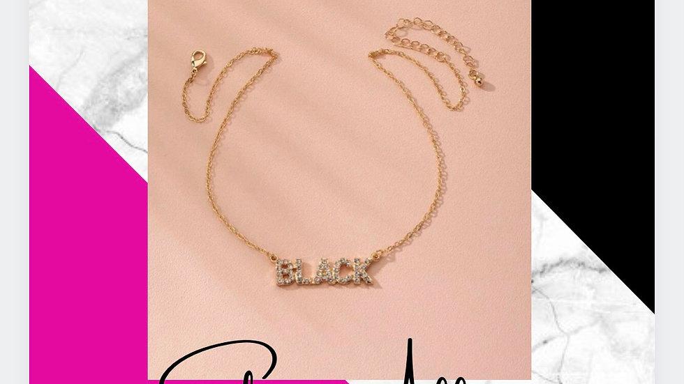 "Bling ""Black"" Necklace"