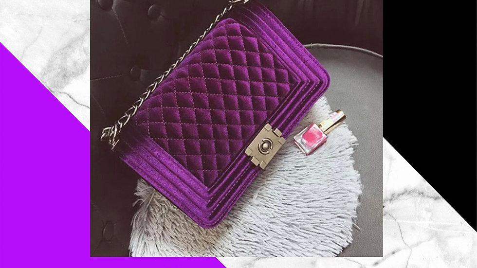 Magenta Velvet Luxury Bag (Large)