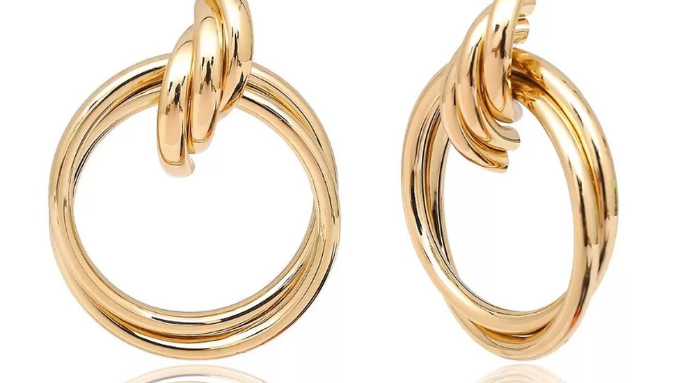 Nefertiti (Style 2 Gold) Large Earrings