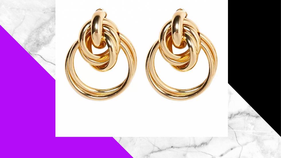 Nefertiti (Style 1 Gold) Large Earrings